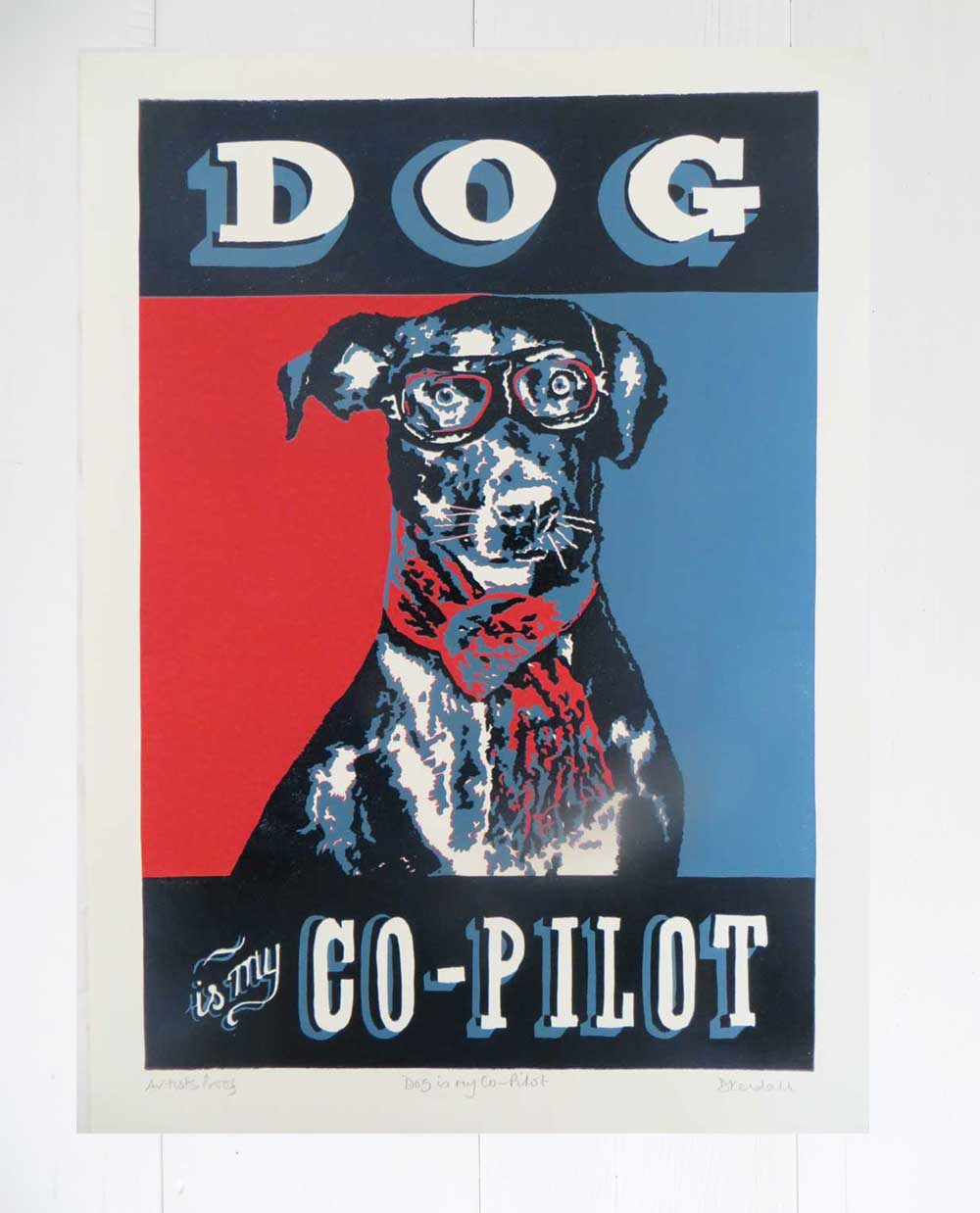 Original Gift for Dog Lovers & Pilots by The Enlightened Hound