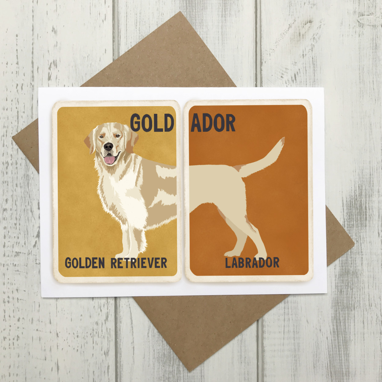 Goldador Cross Breed Card | Golden Retriever Labrador Cross