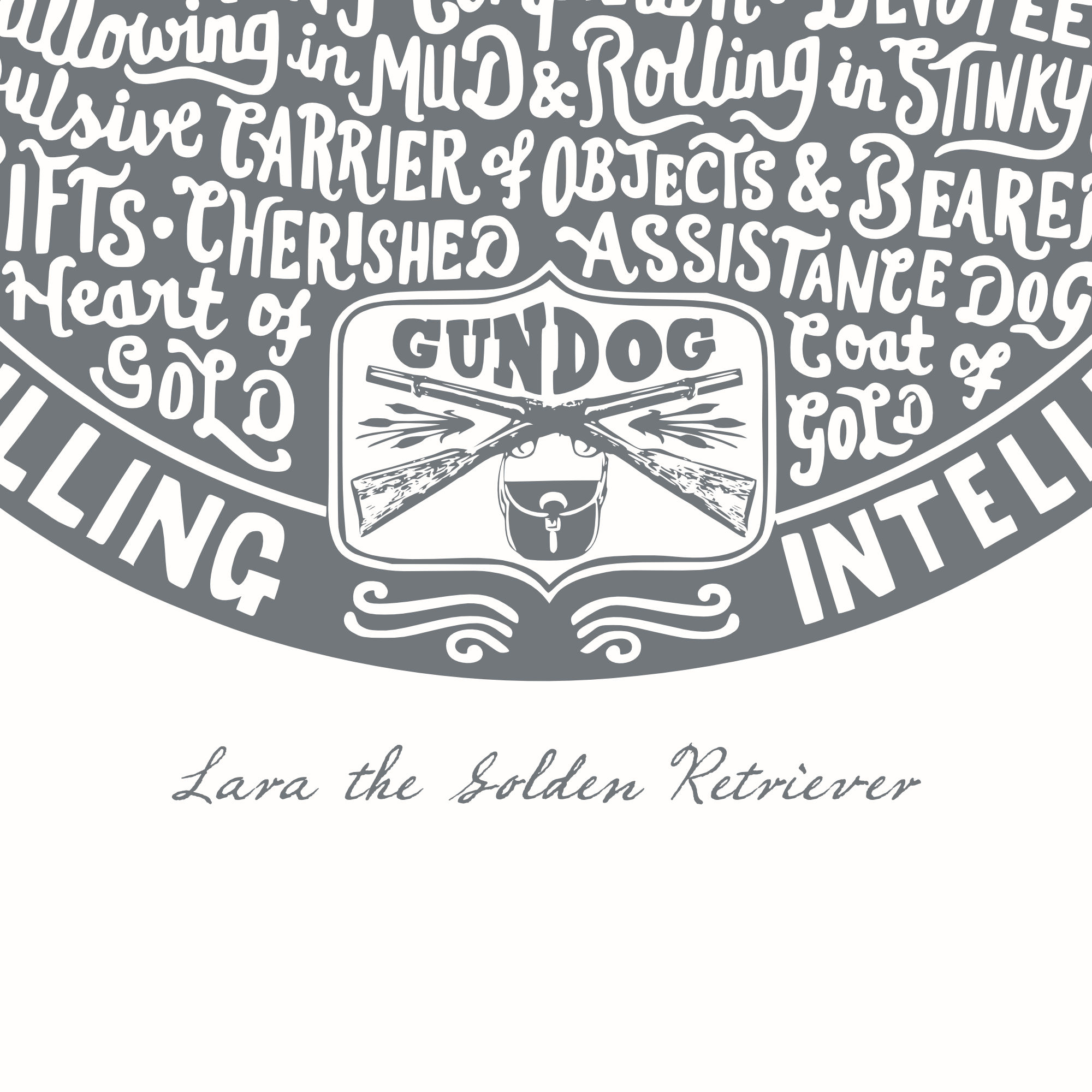 Personalised Golden Retriever Print | The Enlightened Hound