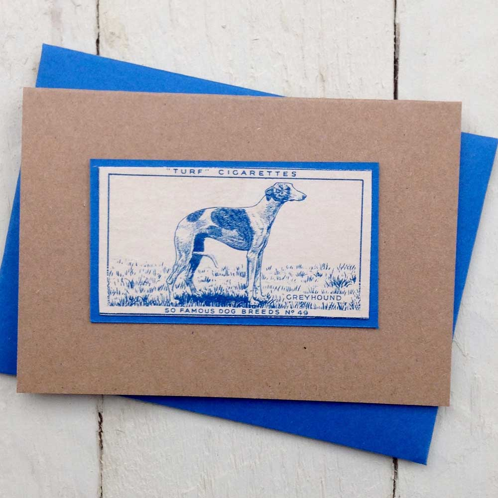 Greyhound Vintage Greeting Card | The Enlightened Hound
