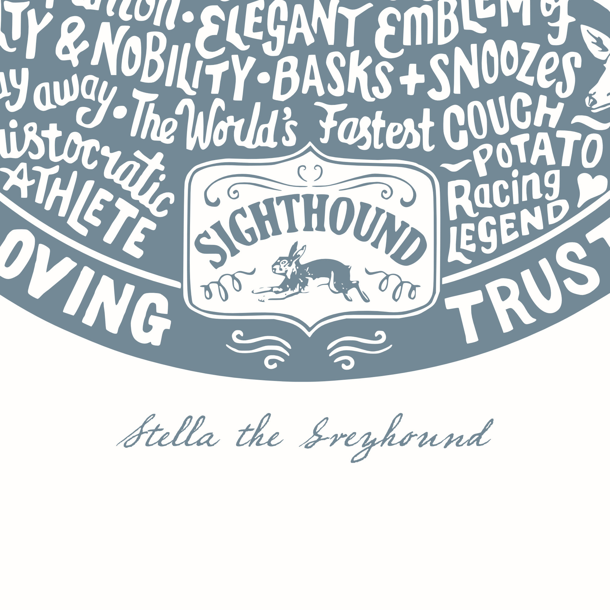 Personalised Greyhound Print | The Enlightened Hound