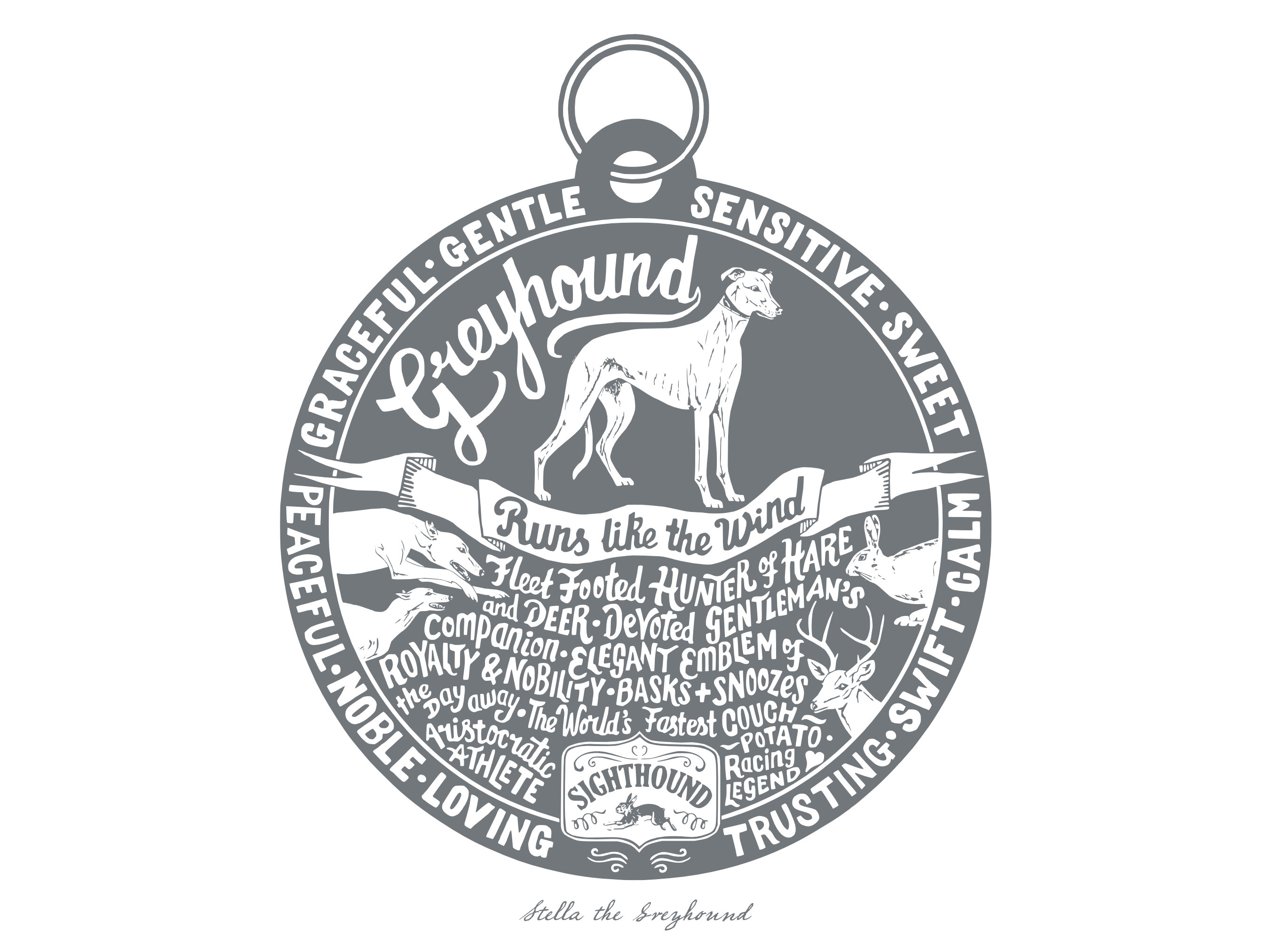 Greyhound Print Unframed | The Enlightened Hound