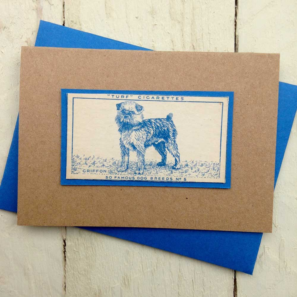 Griffon greeting card - The Enlightened Hound