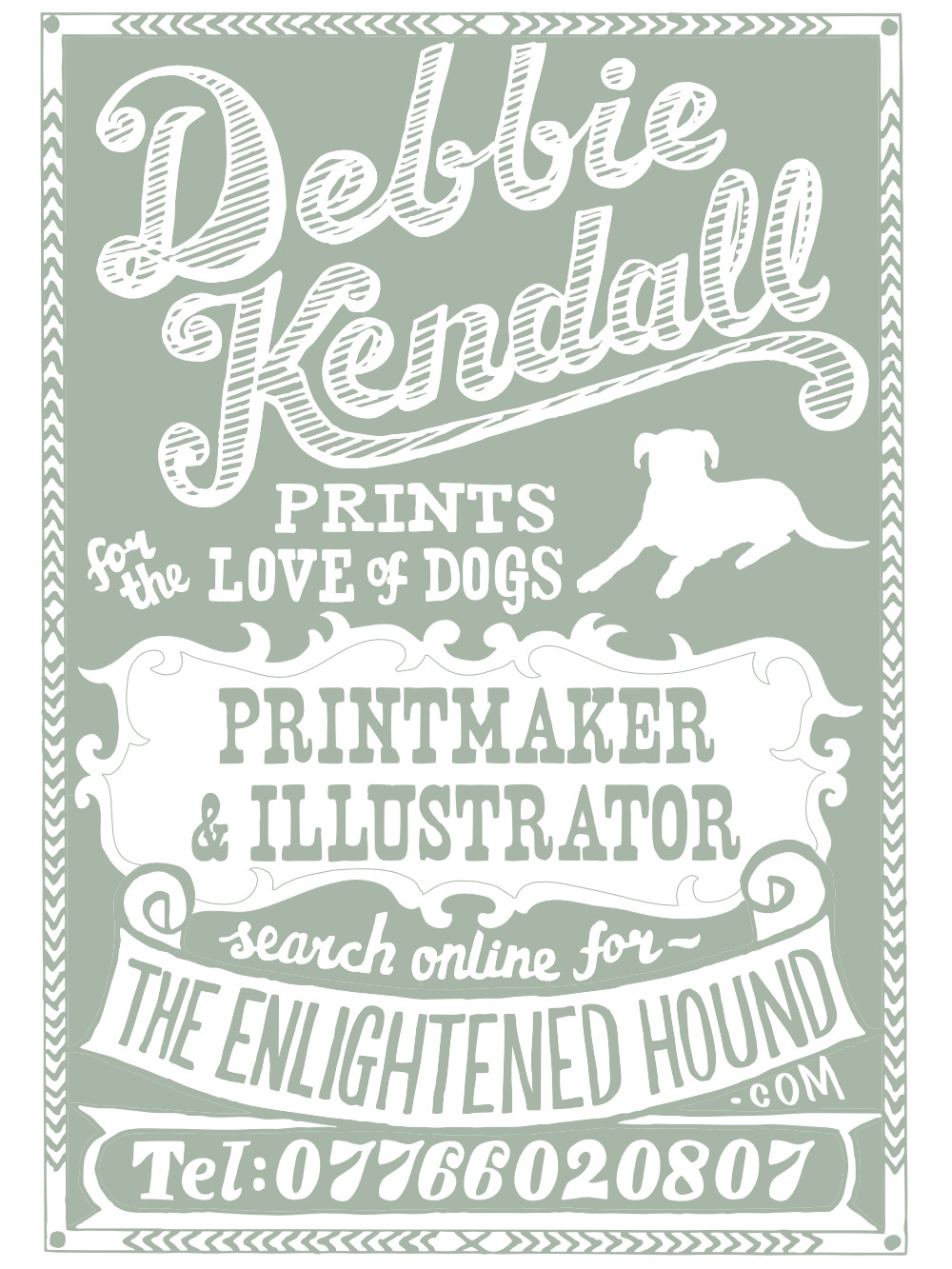 Hand Drawn Illustration Lettering Design | The Enlightened Hound