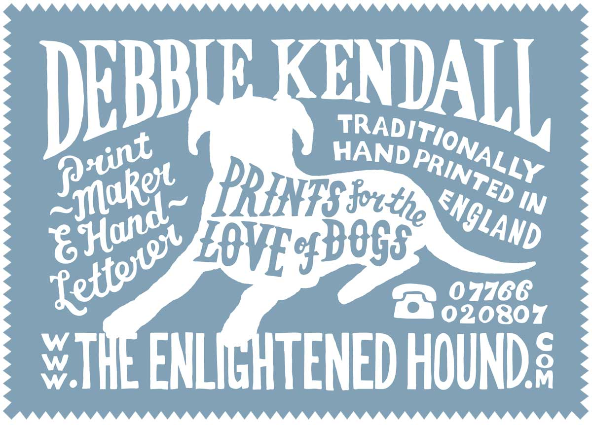 Hand Drawn Business Card Lettering Design | The Enlightened Hound