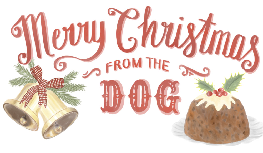 Hand Lettered Christmas Message  |The Enlightened Hound
