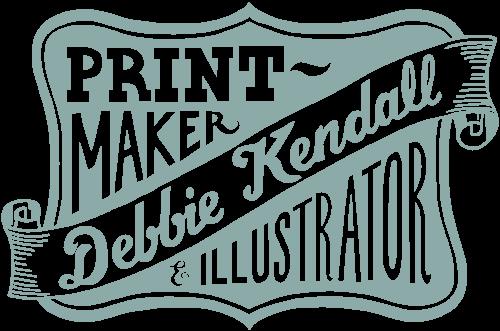 Hand lettered Logo design by Debbie Kendall