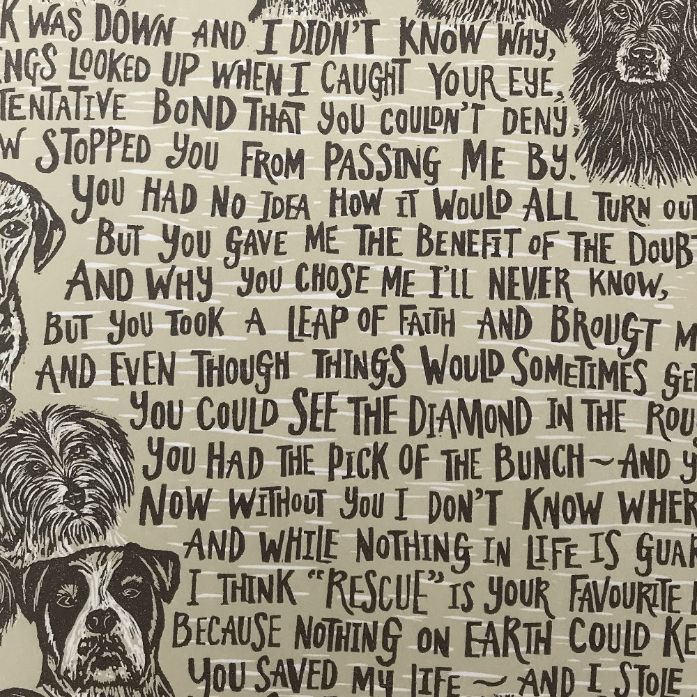 Hand Lettered Poem | The Enlightened Hound