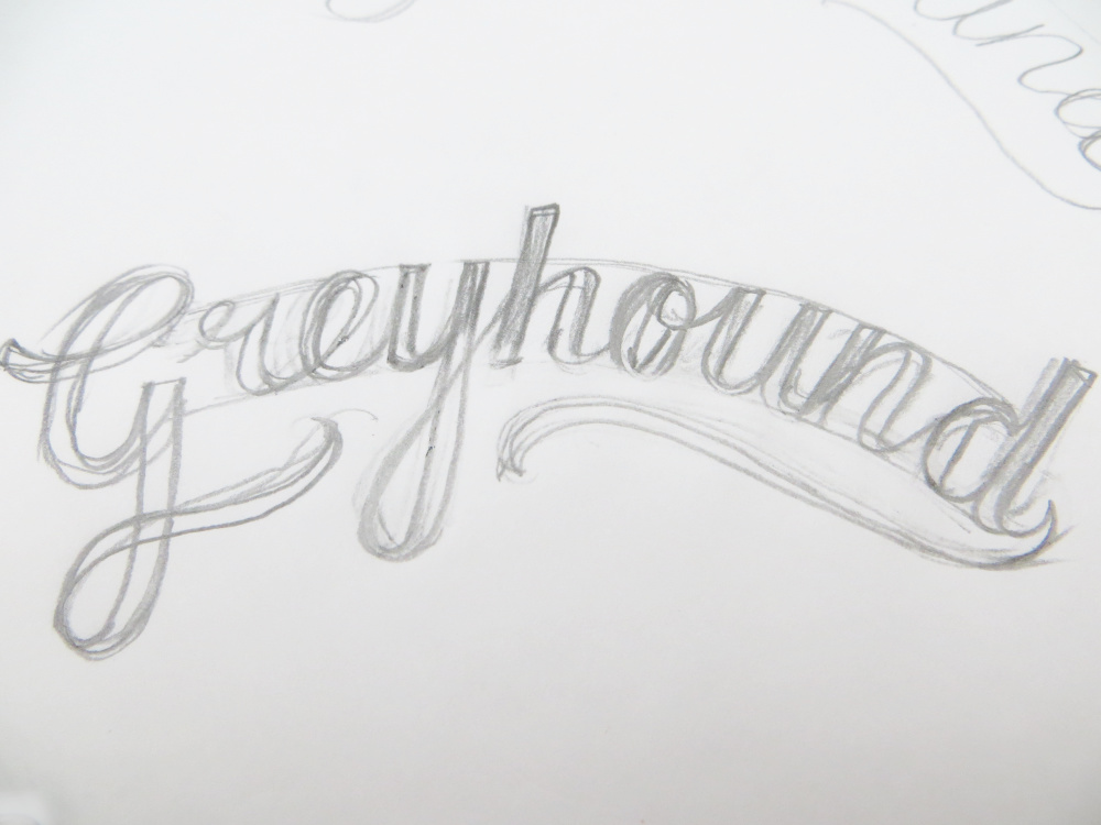 Hand Lettered Script Sketch | The Enlightened Hound