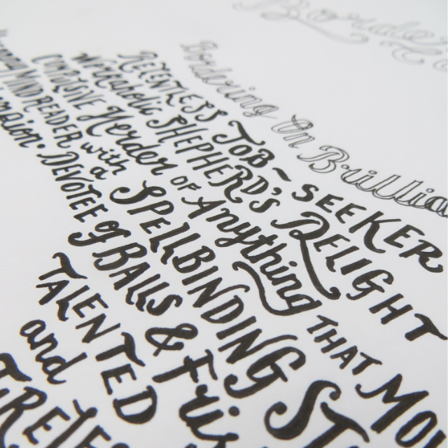 Pen & Ink Hand Lettering  |The Enlightened Hound