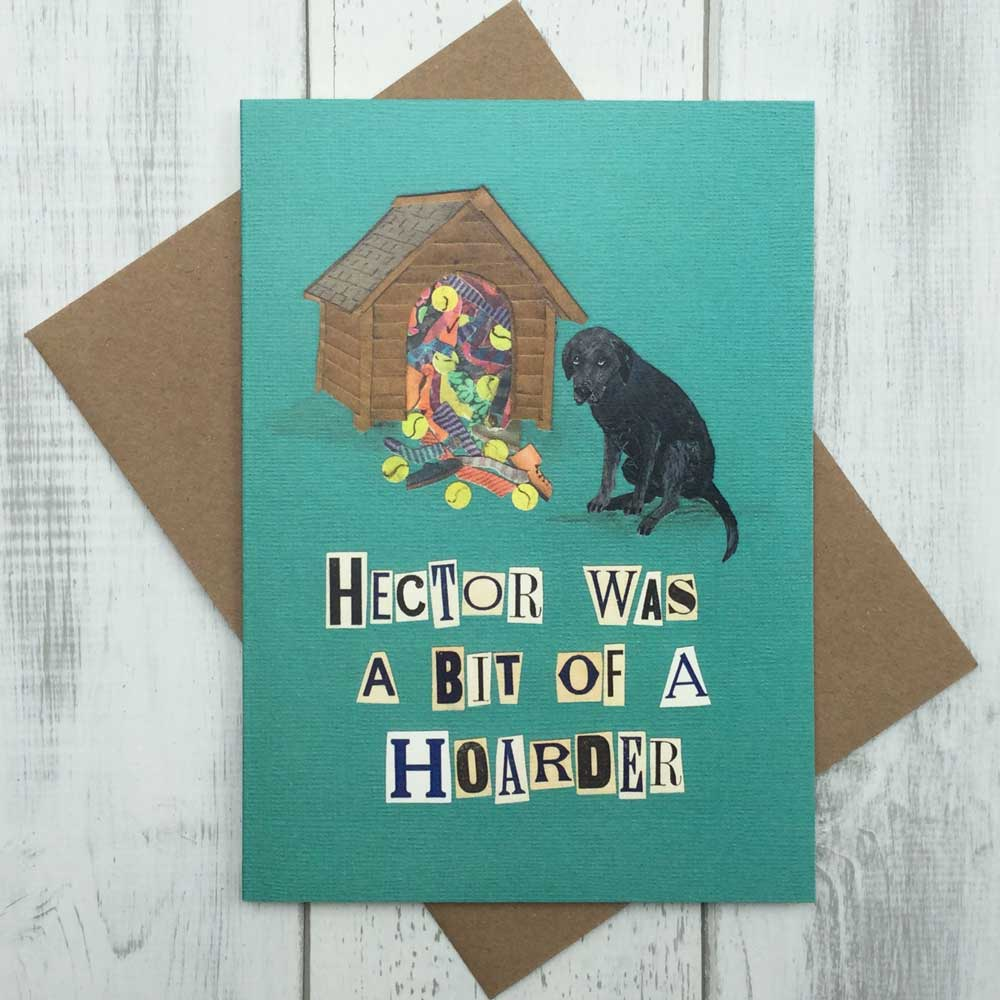 Hoarder Labrador Dog Funny Greeting Card