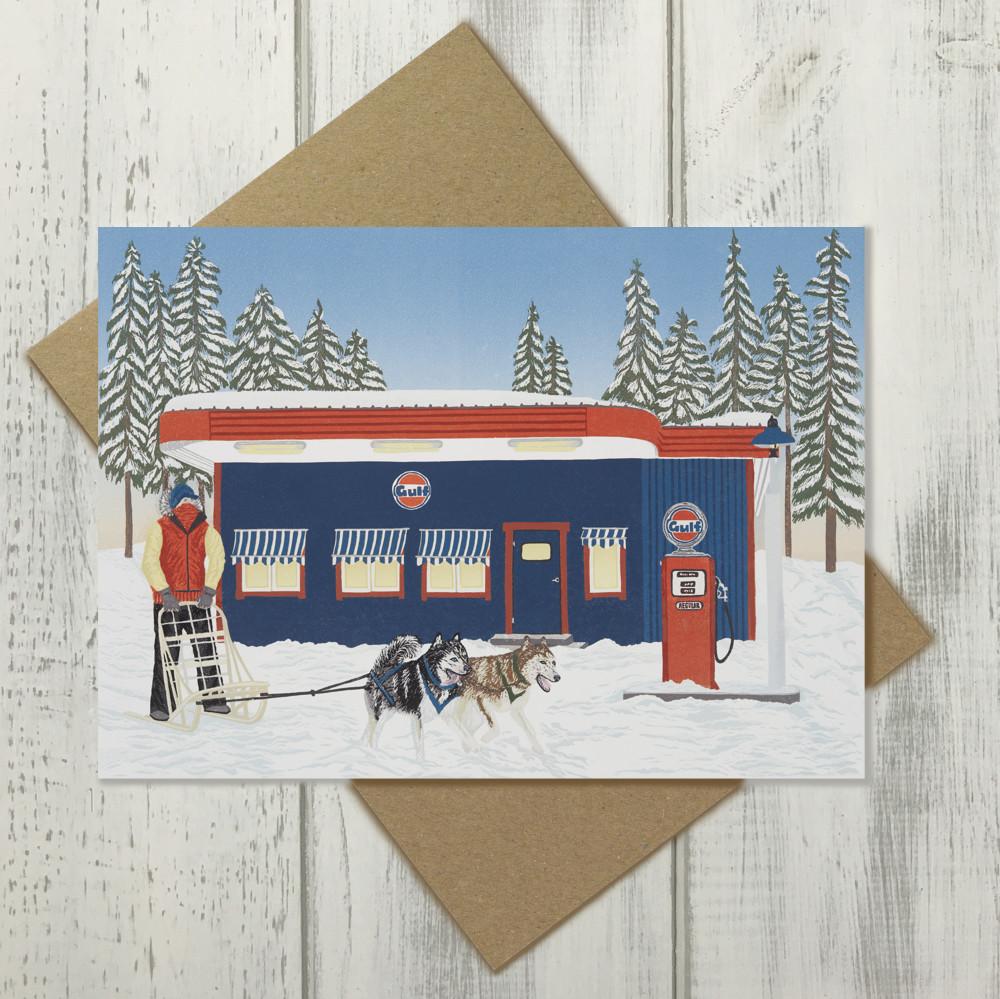 Husky Dog Sled Musher Card | The Enlightened Hound