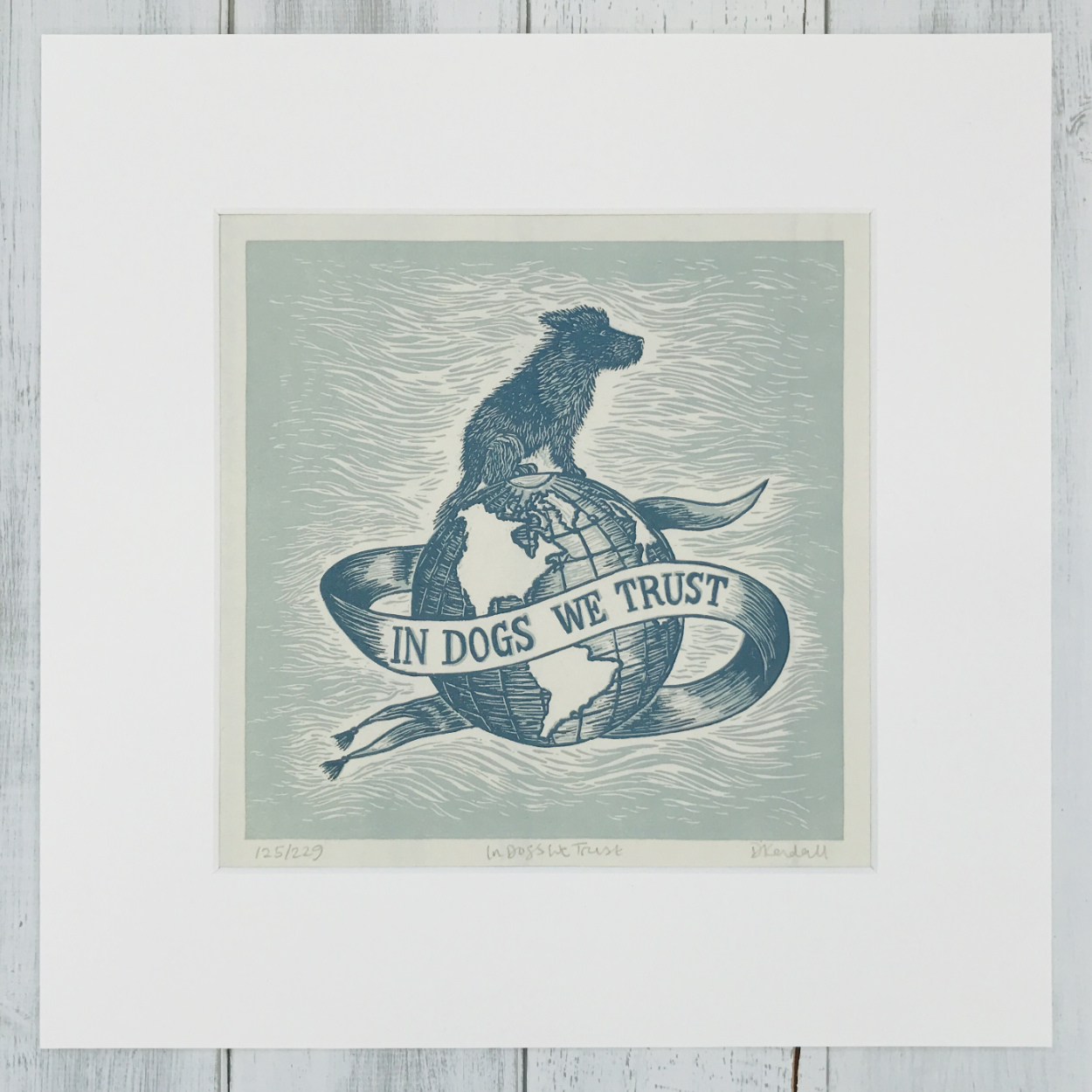 In Dogs We Trust Linoprint