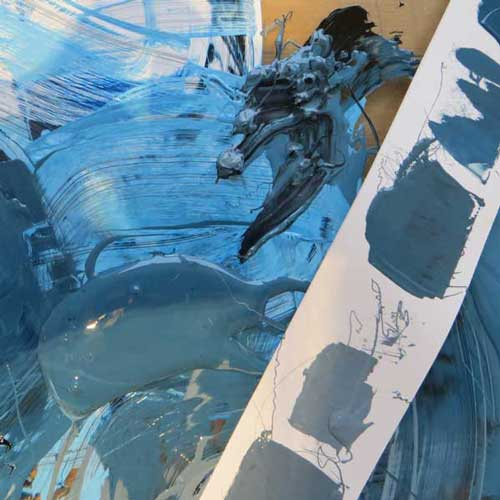 Mixing up colours with printmaking ink - Debbie Kendall