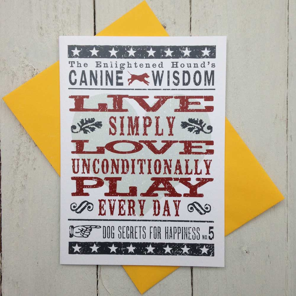 Canine Wisdom Card No.5