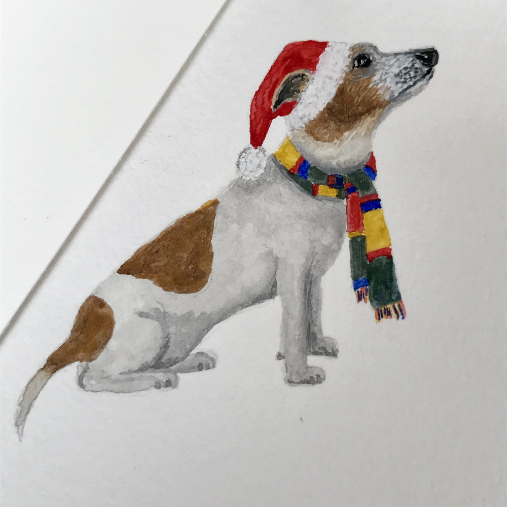Jack Russell in hat and scarf illustration | The Enlightened Hound