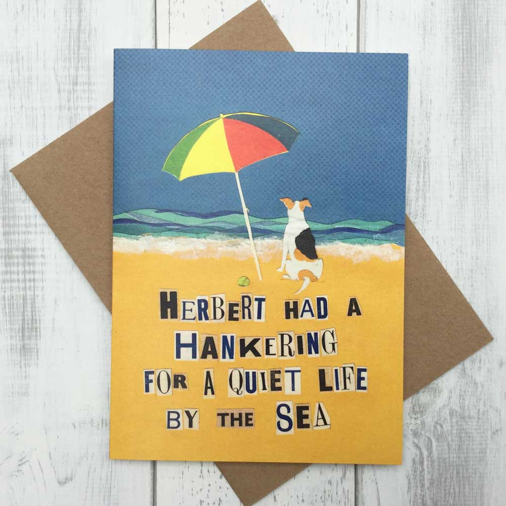 Jack Russell Quiet Life by the Sea Greeting Card