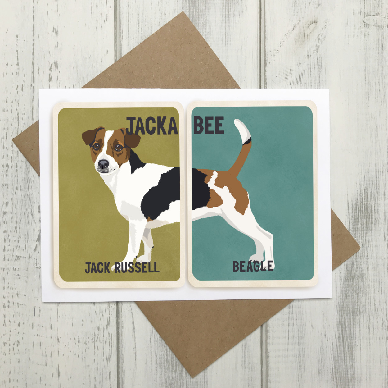 Jackabee Cross Breed Card | Jack Russell Beagle Cross