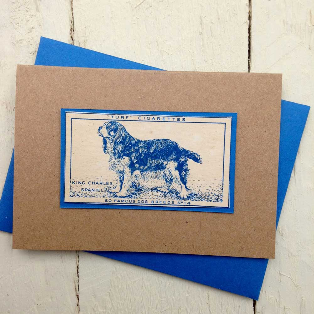 King Charles Spaniel Vintage Greeting Card - The Enlightened Hound