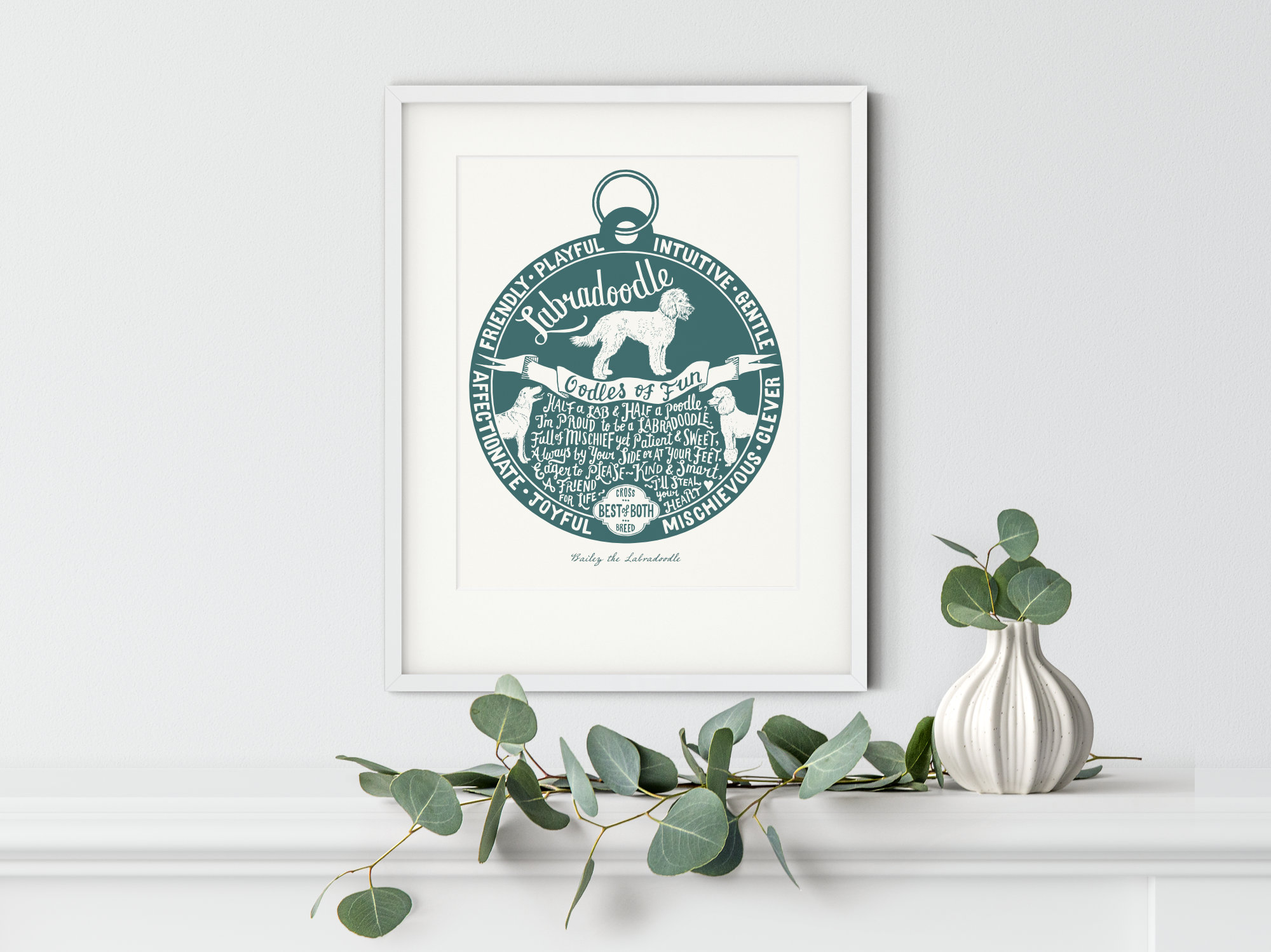 Labradoodle Art Print | The Enlightened Hound