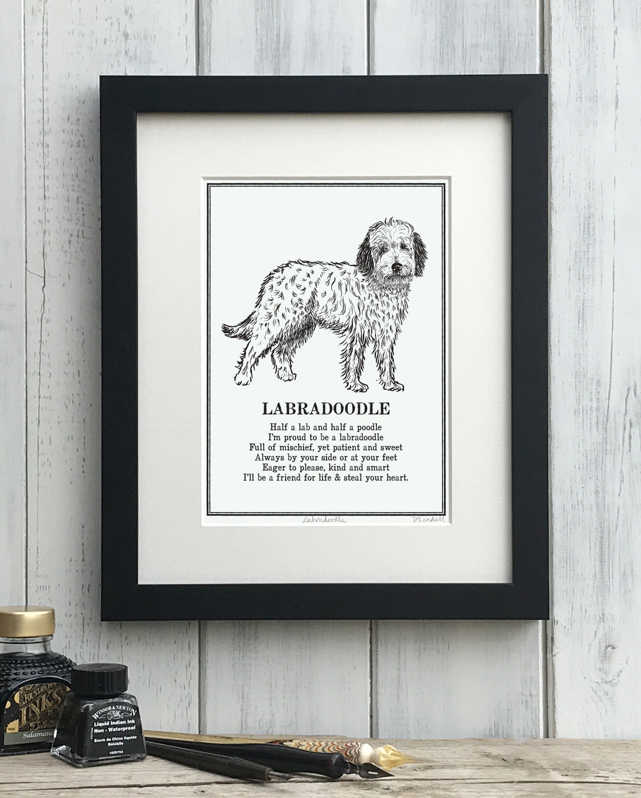 Labradoodle Illustrated Poem Print | The Enlightened Hound