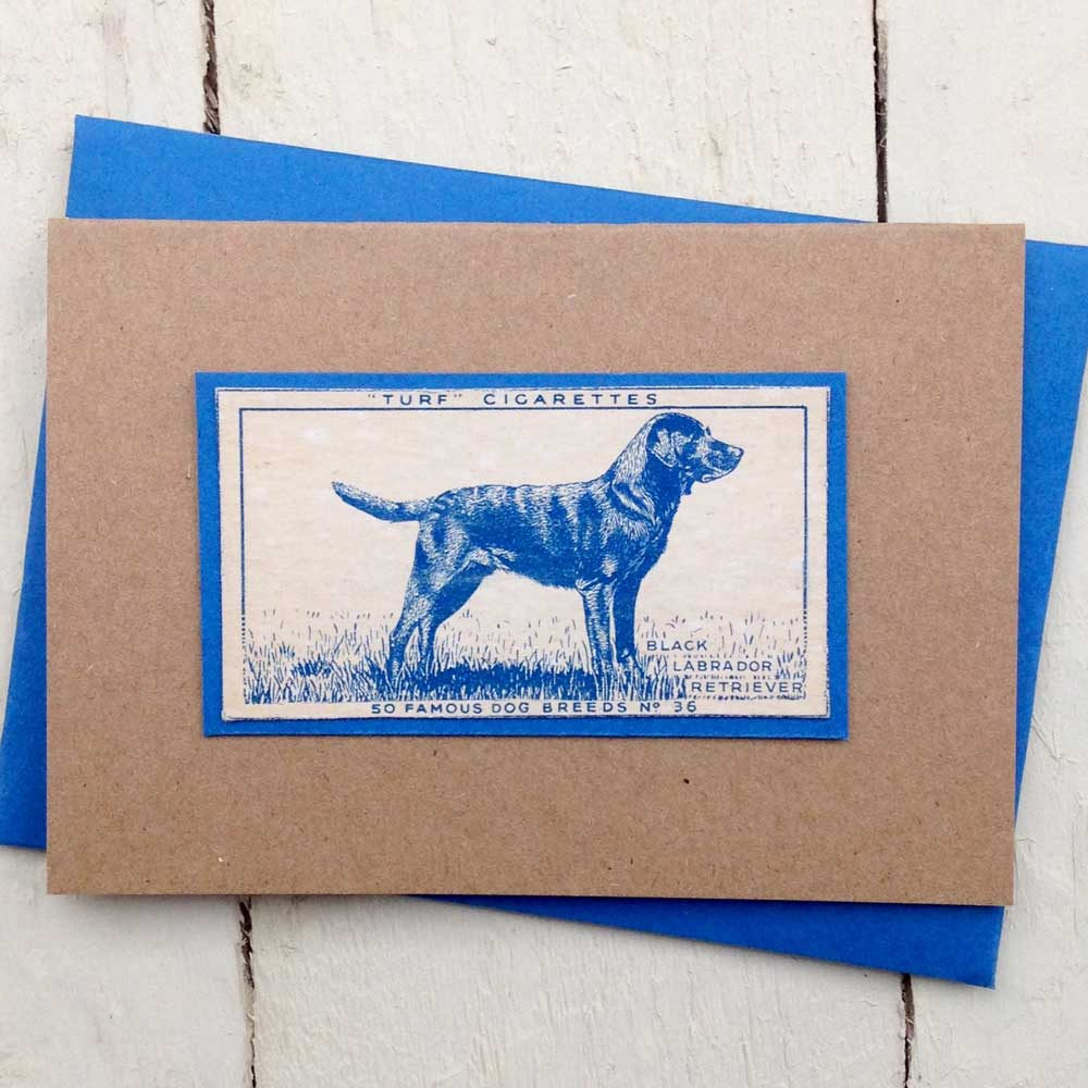 Labrador Vintage Greeting Card by The Enlightened Hound