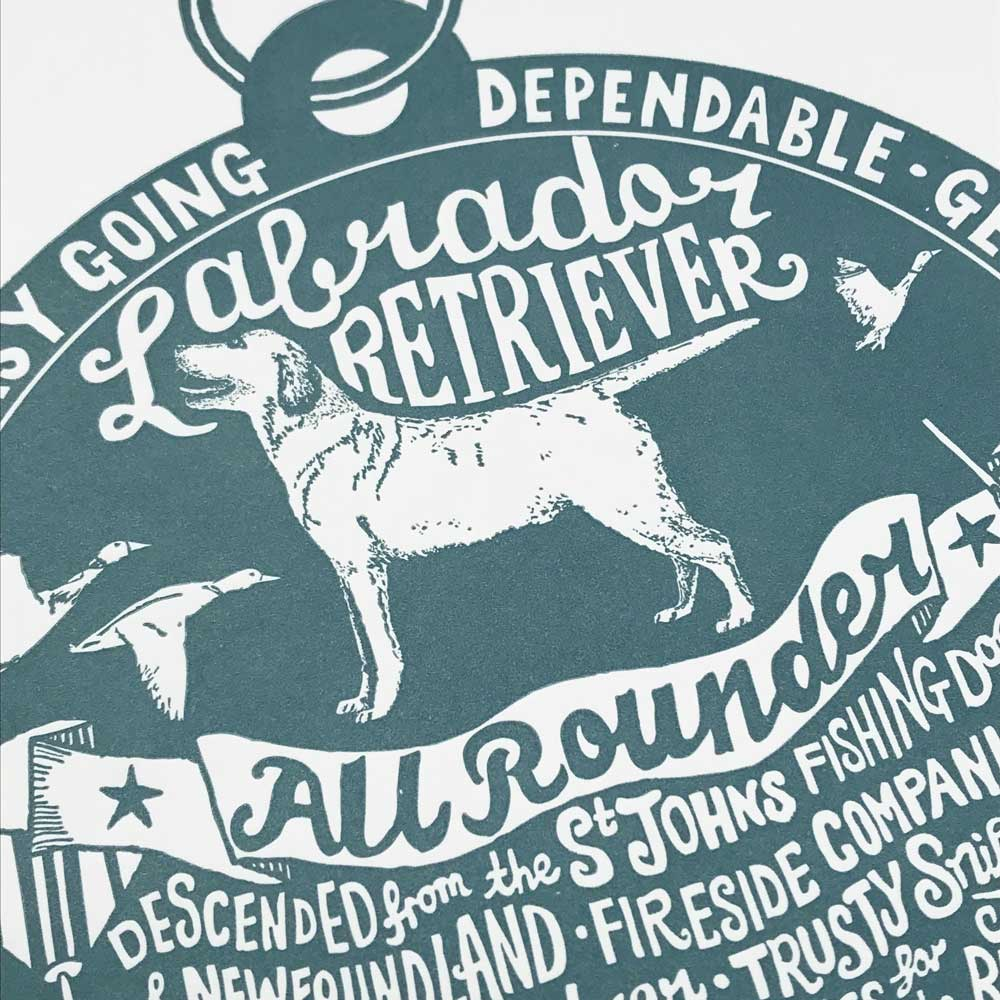 Labrador Illustration Lettering Design | The Enlightened Hound