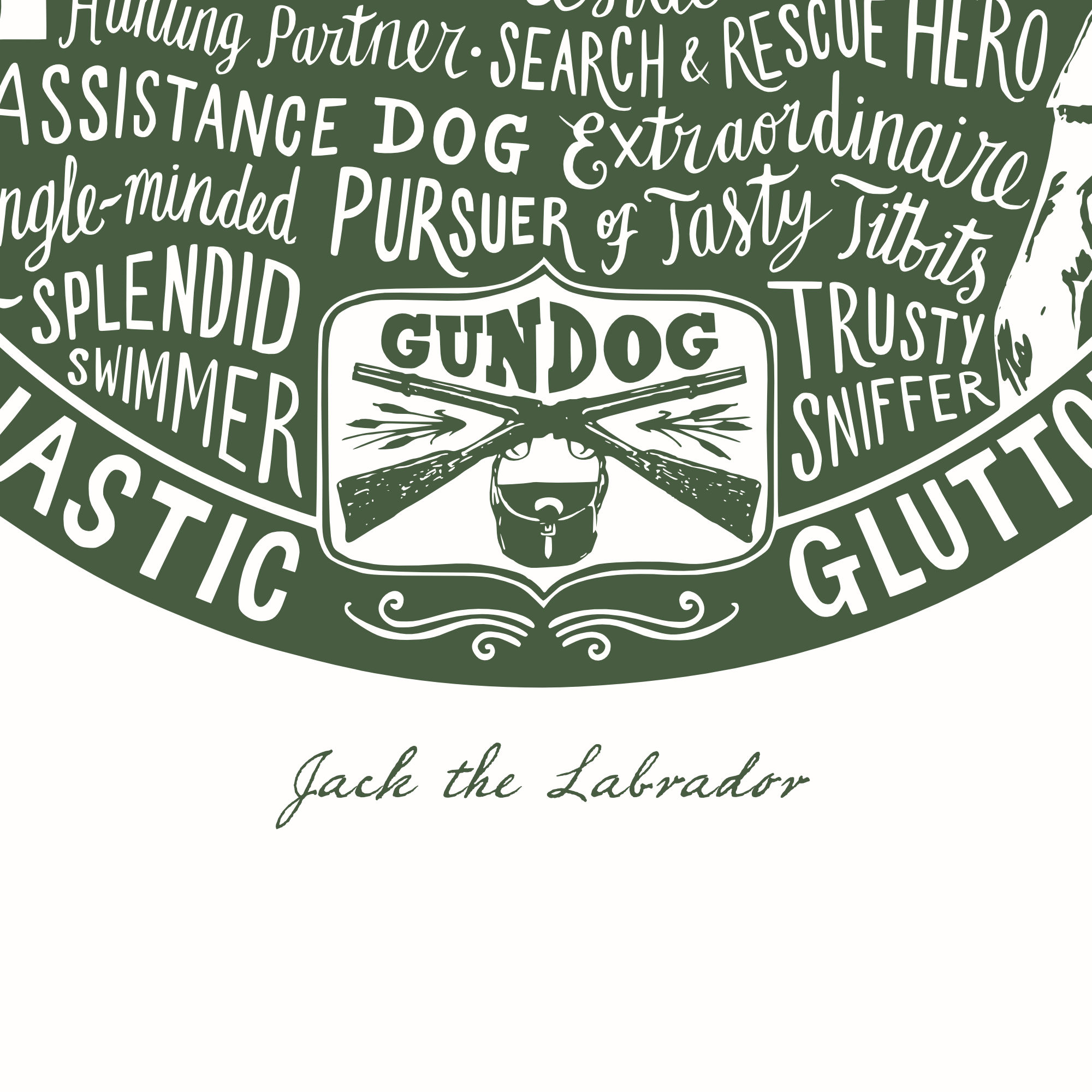Personalised Labrador Print | The Enlightened Hound