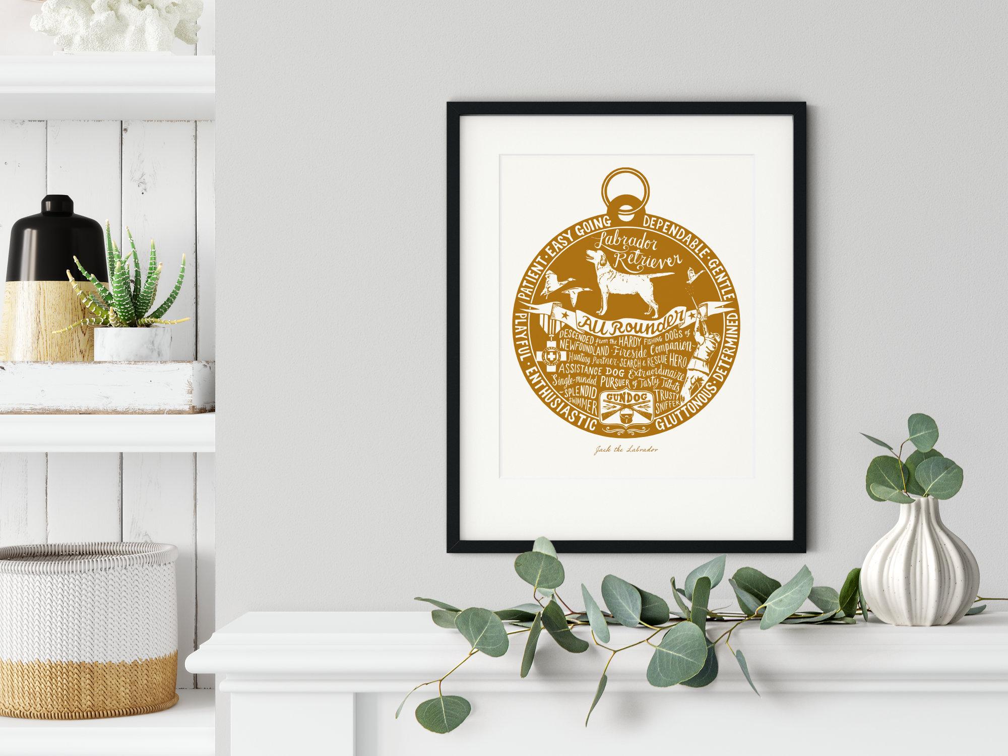 Labrador Retriever Art Print | The Enlightened Hound