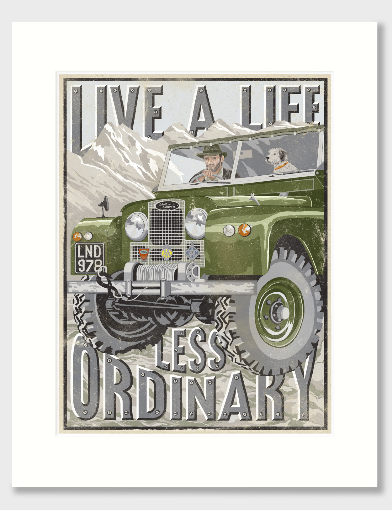Old Land Rover Lover Owner Print | The Enlightened Hound