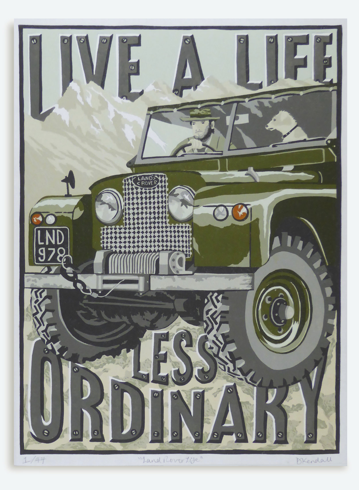 Land Rover Print | The Enlightened Hound