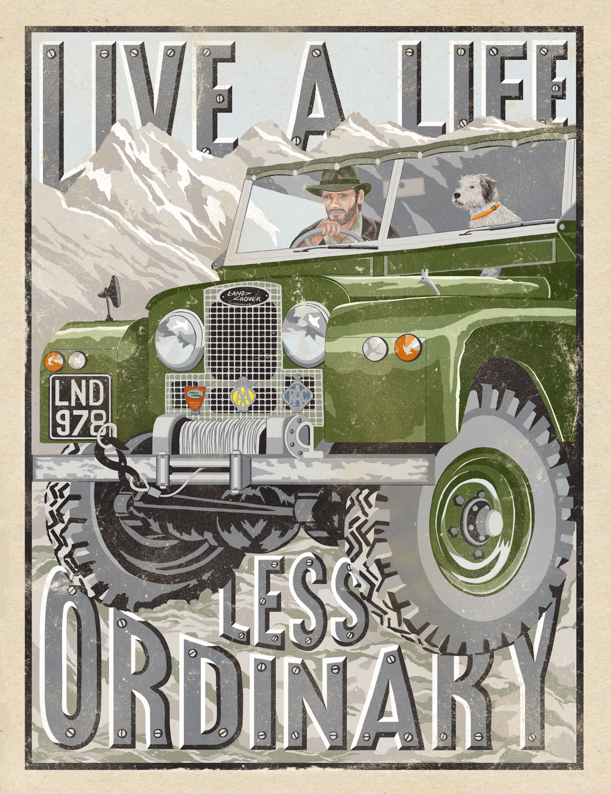 Land Rover Life Print | The Enlightened Hound