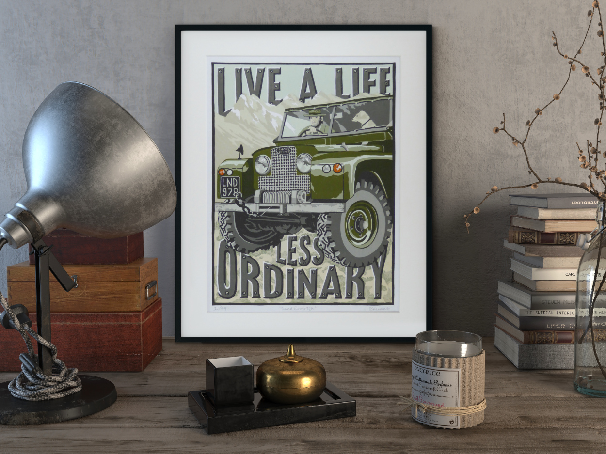 Vintage Land Rover Print by The Enlightened Hound