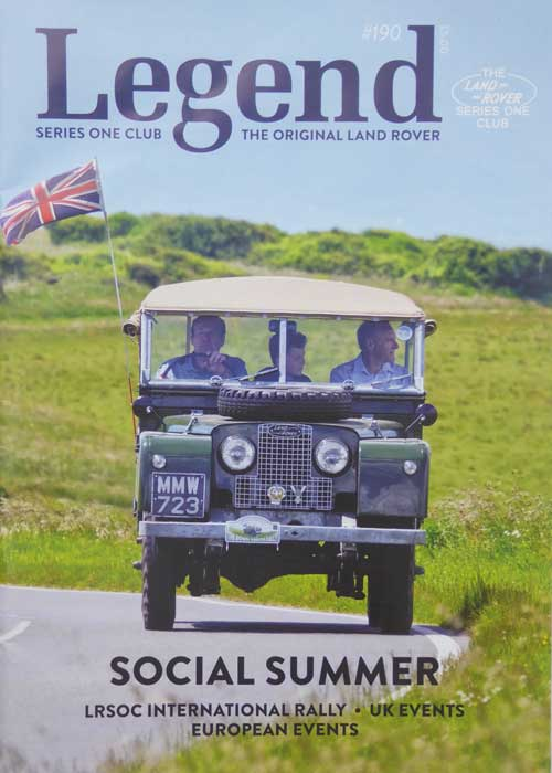 Legend Land Rover Magazine Cover UK