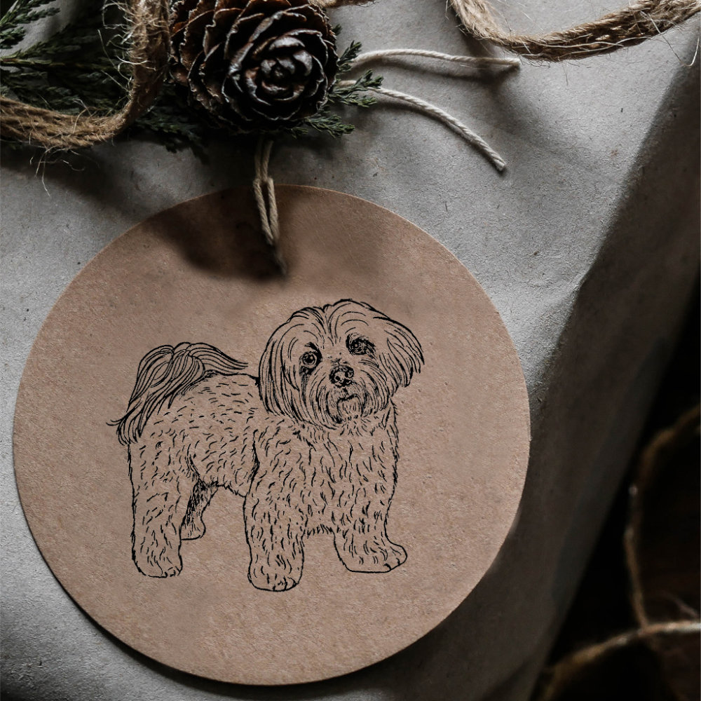 Lhasa Apso Rubber Stamp | The Enlightened Hound