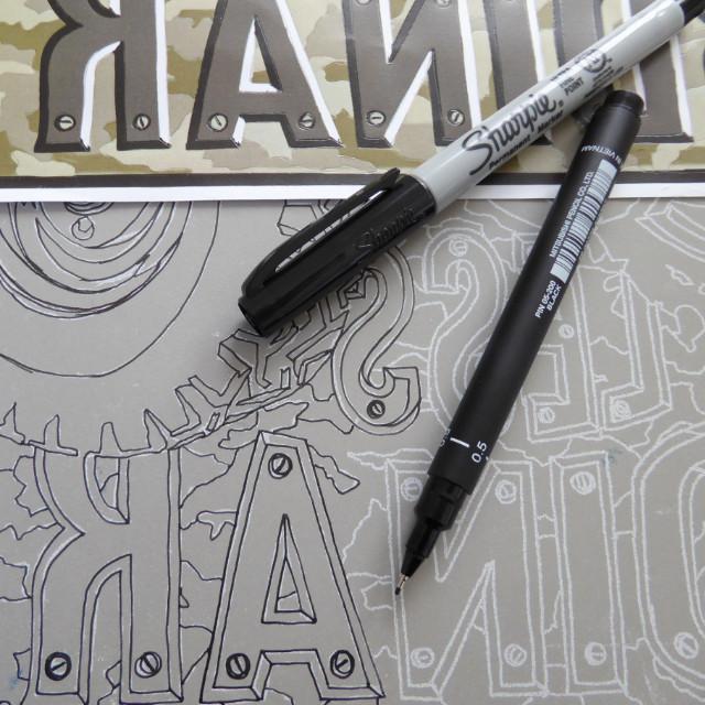 Linoprint design transfer | The Enlightened Hound