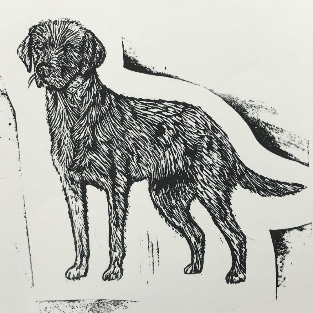 Linoprint Dog  |The Enlightened Hound