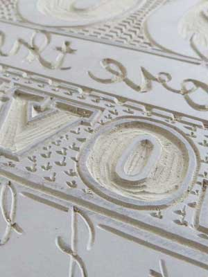 Linocut Carved Lettering Debbie Kendall