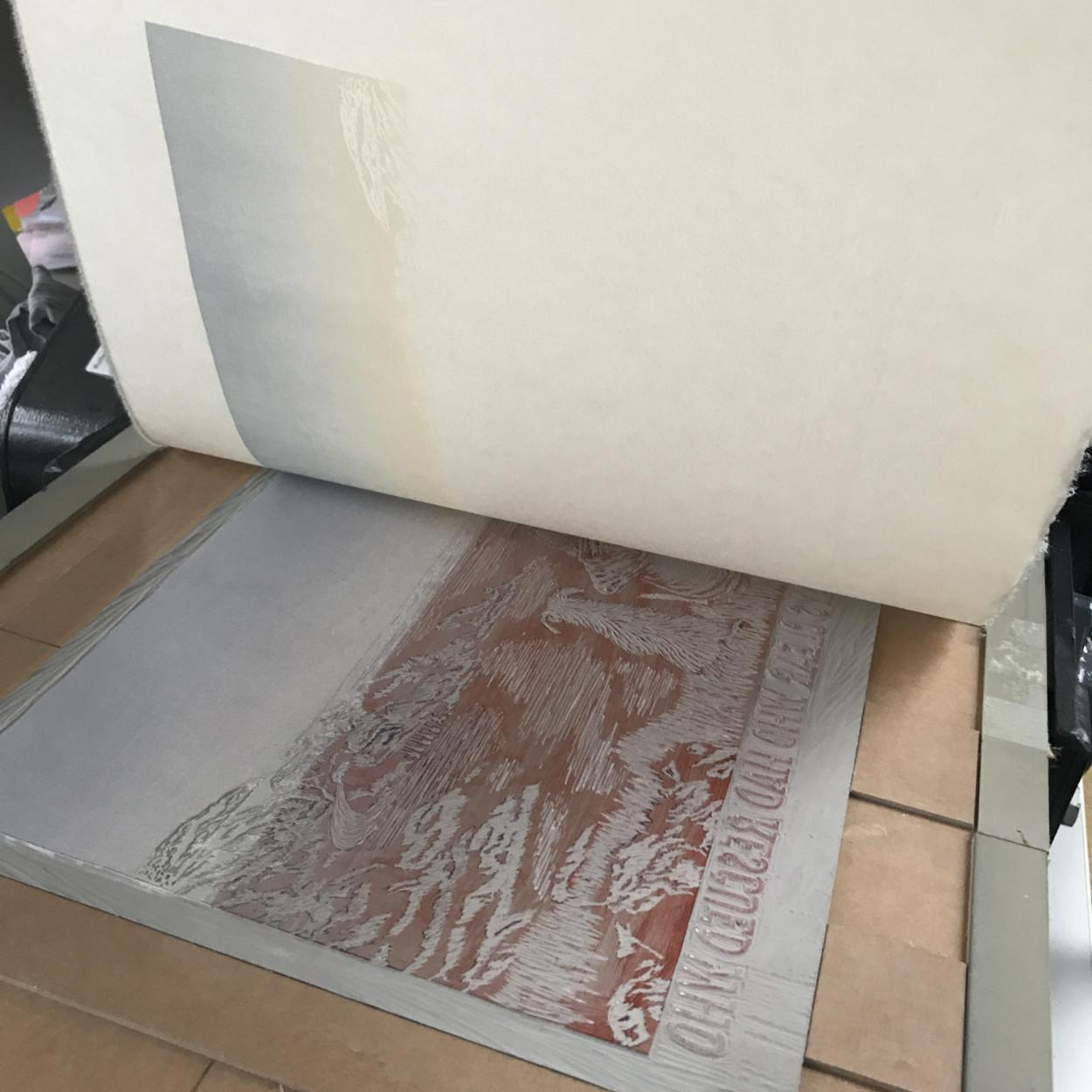 linoprint press printing