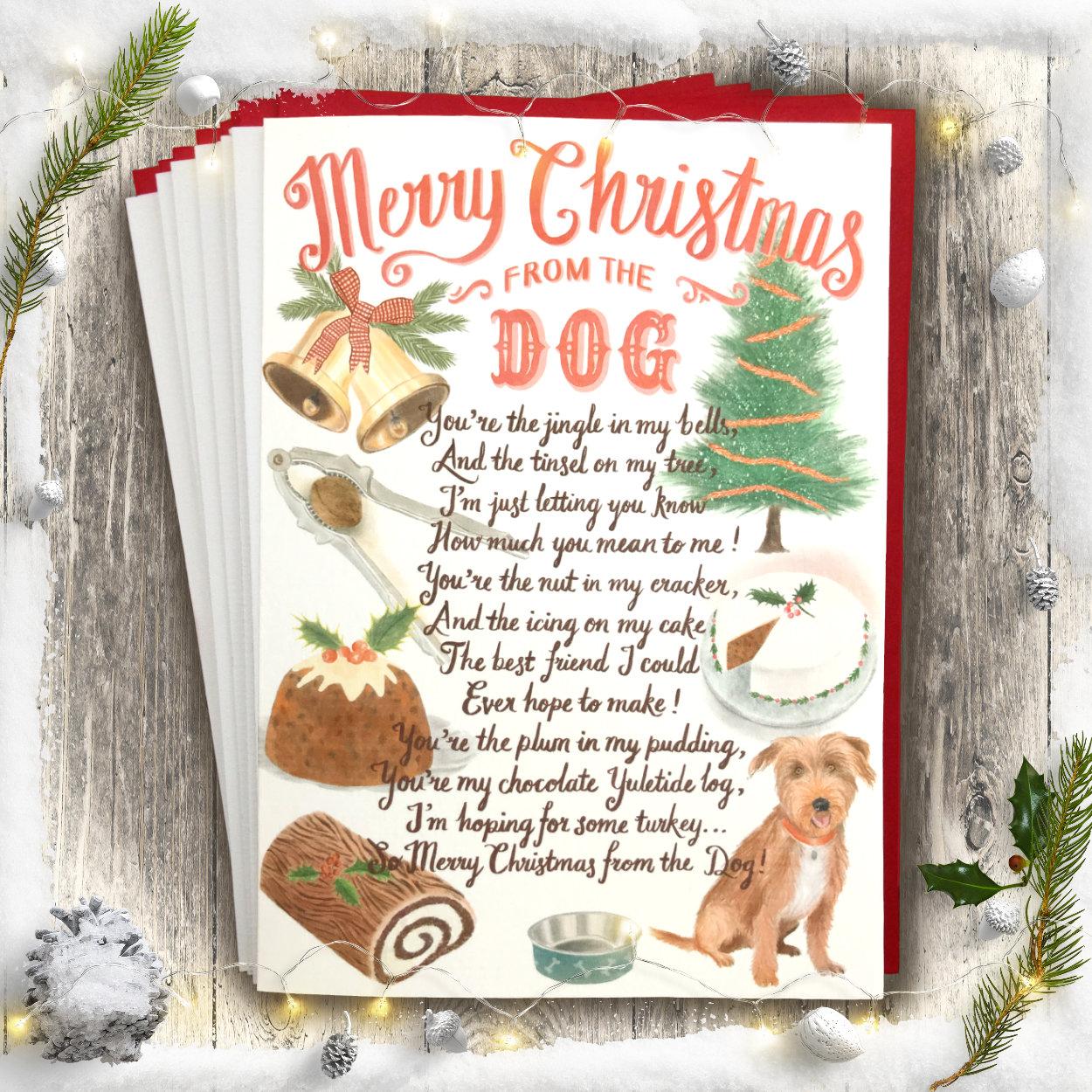 Dog Lover Christmas Card | The Enlightened Hound