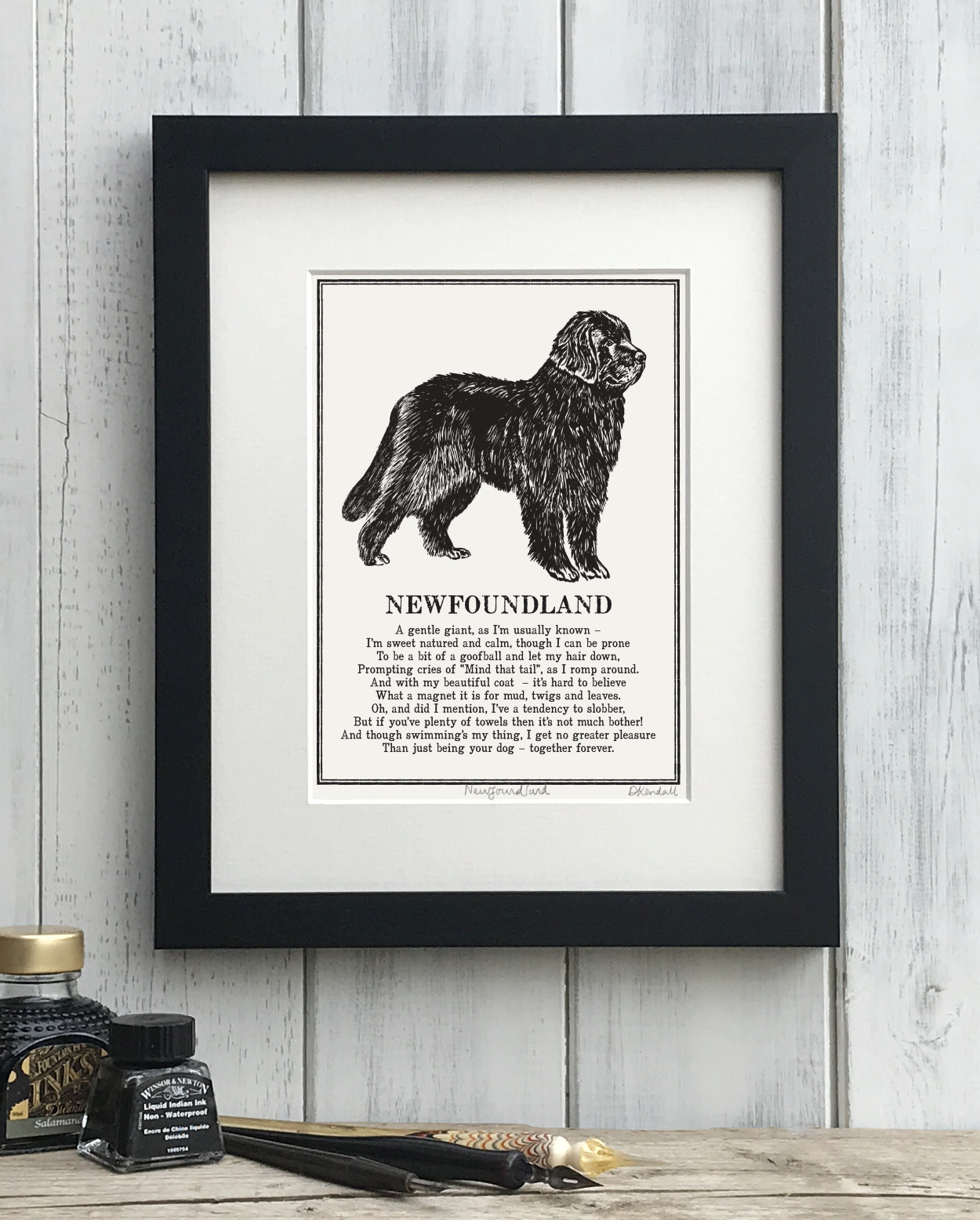 Newfoundland Doggerel Illustrated Poem Art Print | The Enlightened Hound
