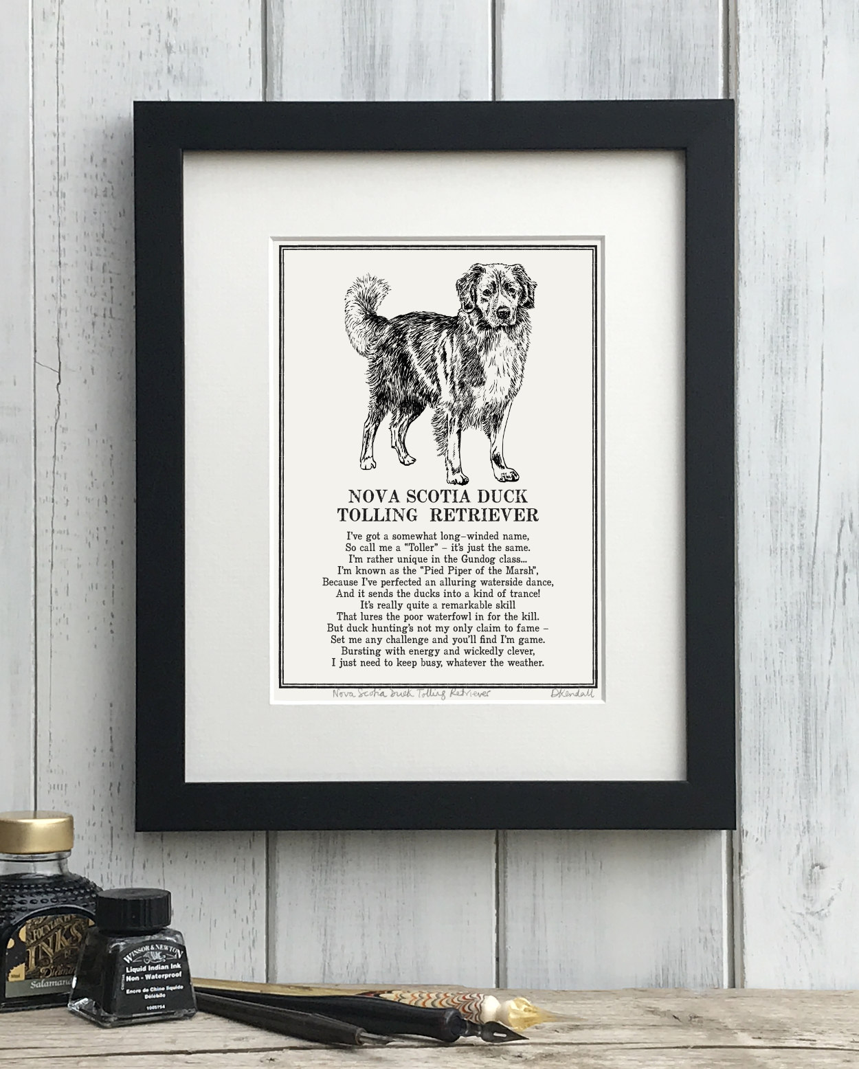 Nova Scotia Duck Tolling Retriever Doggerel Print