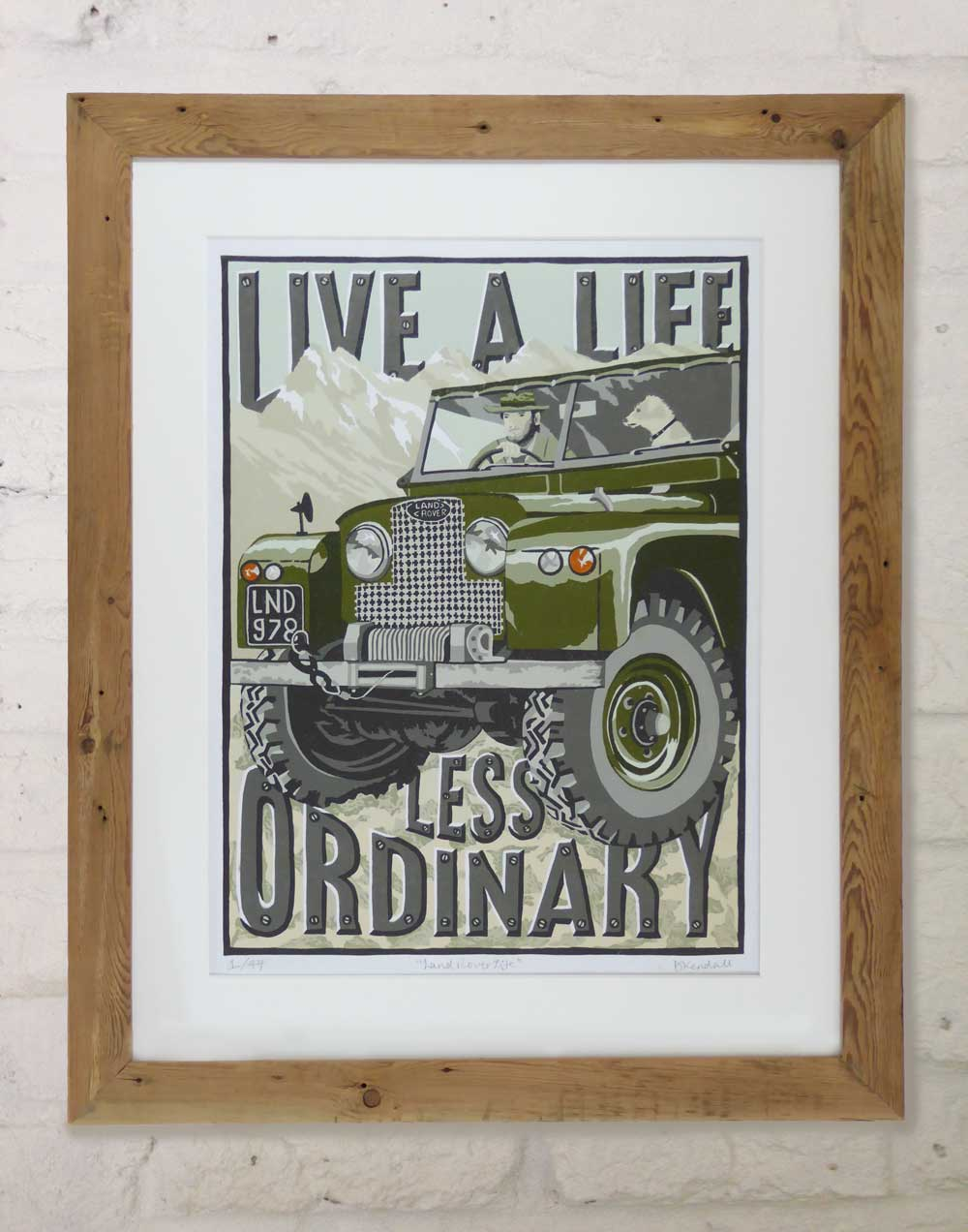 Land Rover Life Linoprint