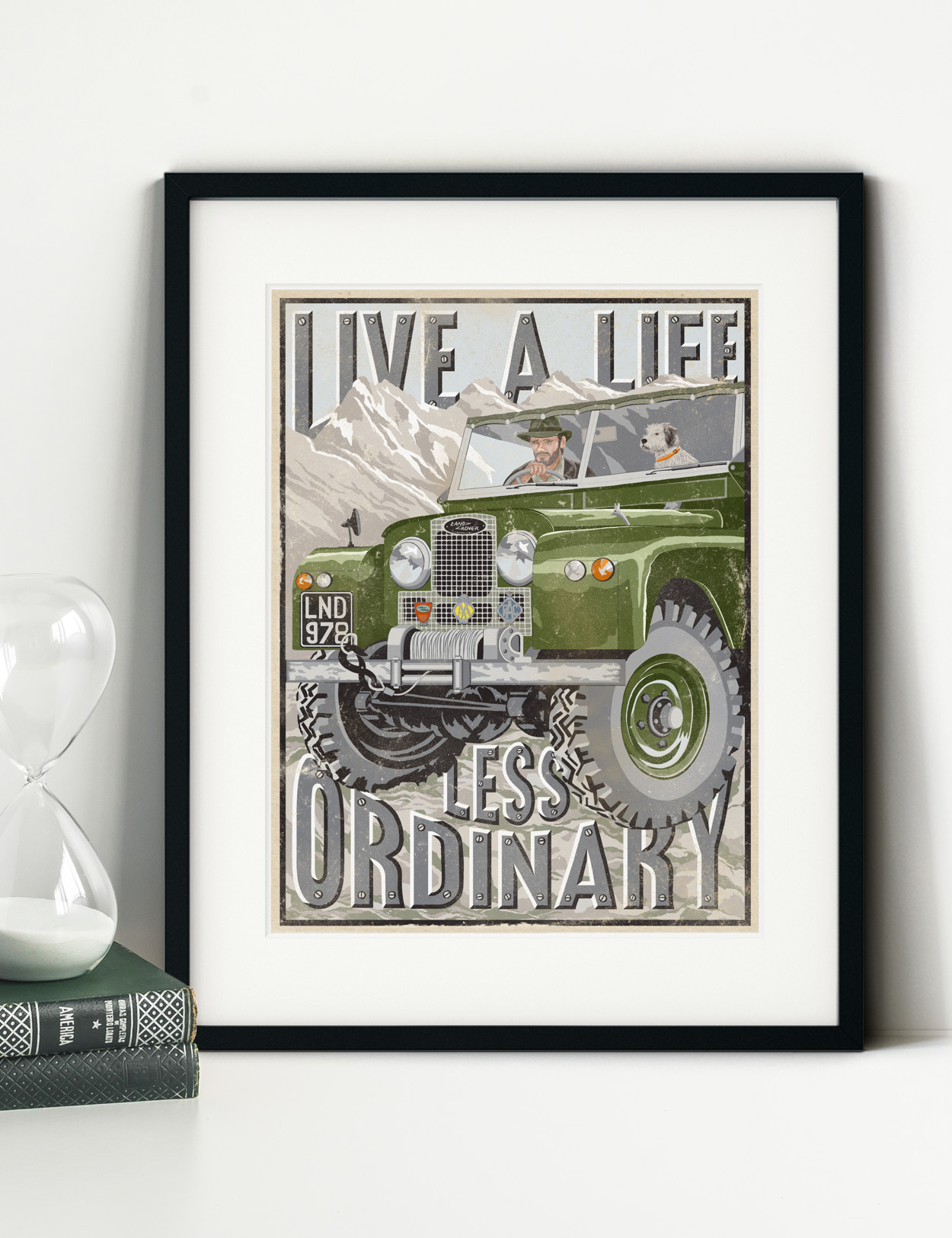 Old Land Rover Defender Series Print | The Enlightened Hound