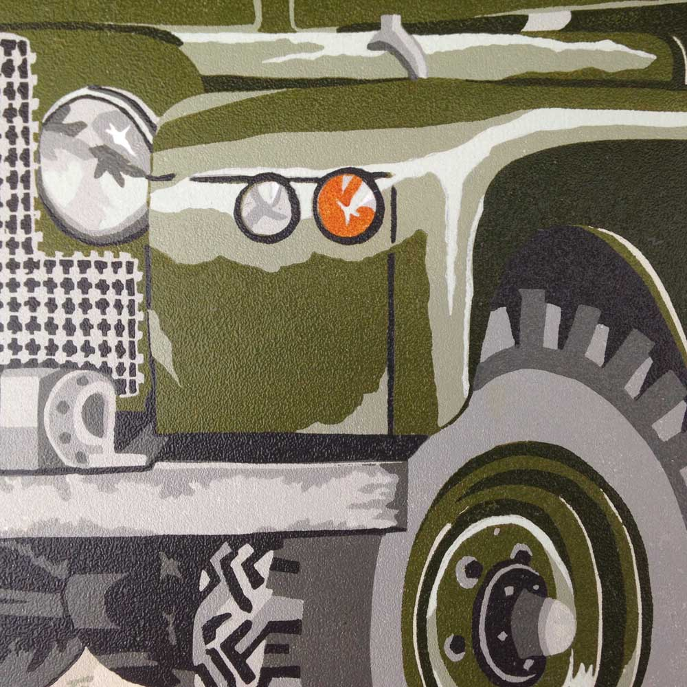 Vintage Land Rover Series 1 2 Linoprint |The Enlightened Hound