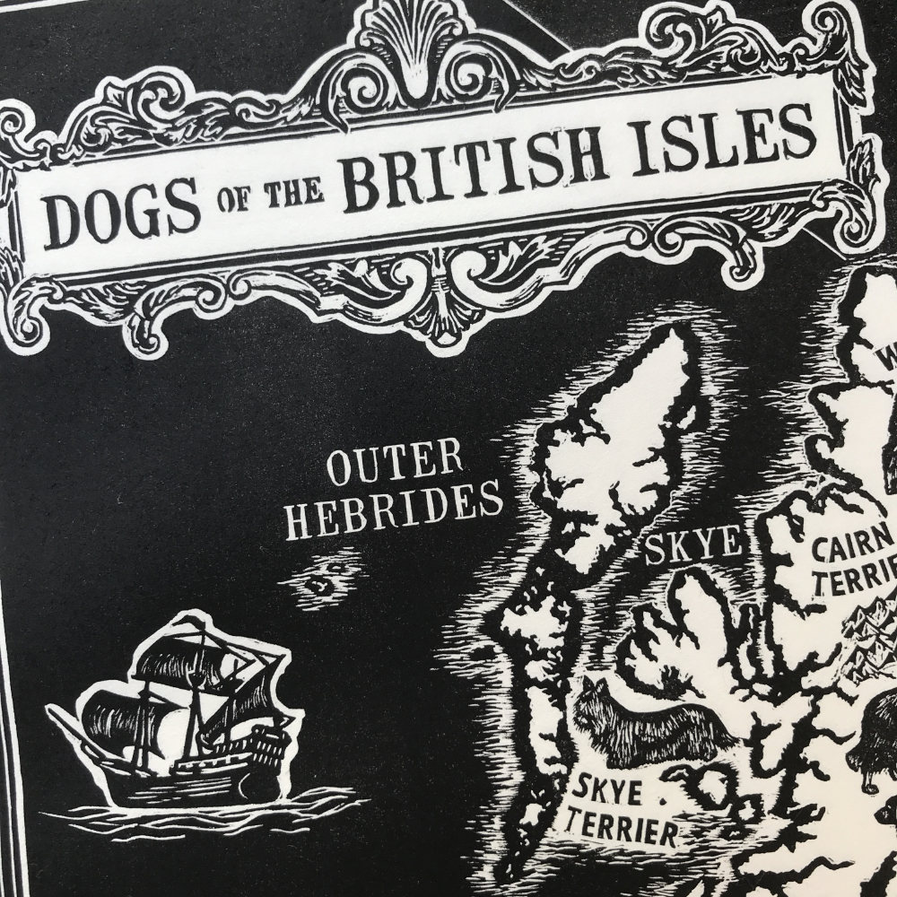 Dogs of the British Isles Linoprint  |The Enlightened Hound