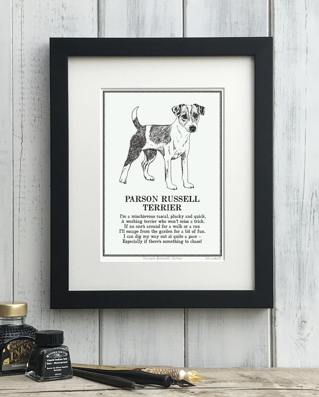 Parson Russell Terrier print illustrated poem by The Enlightened Hound