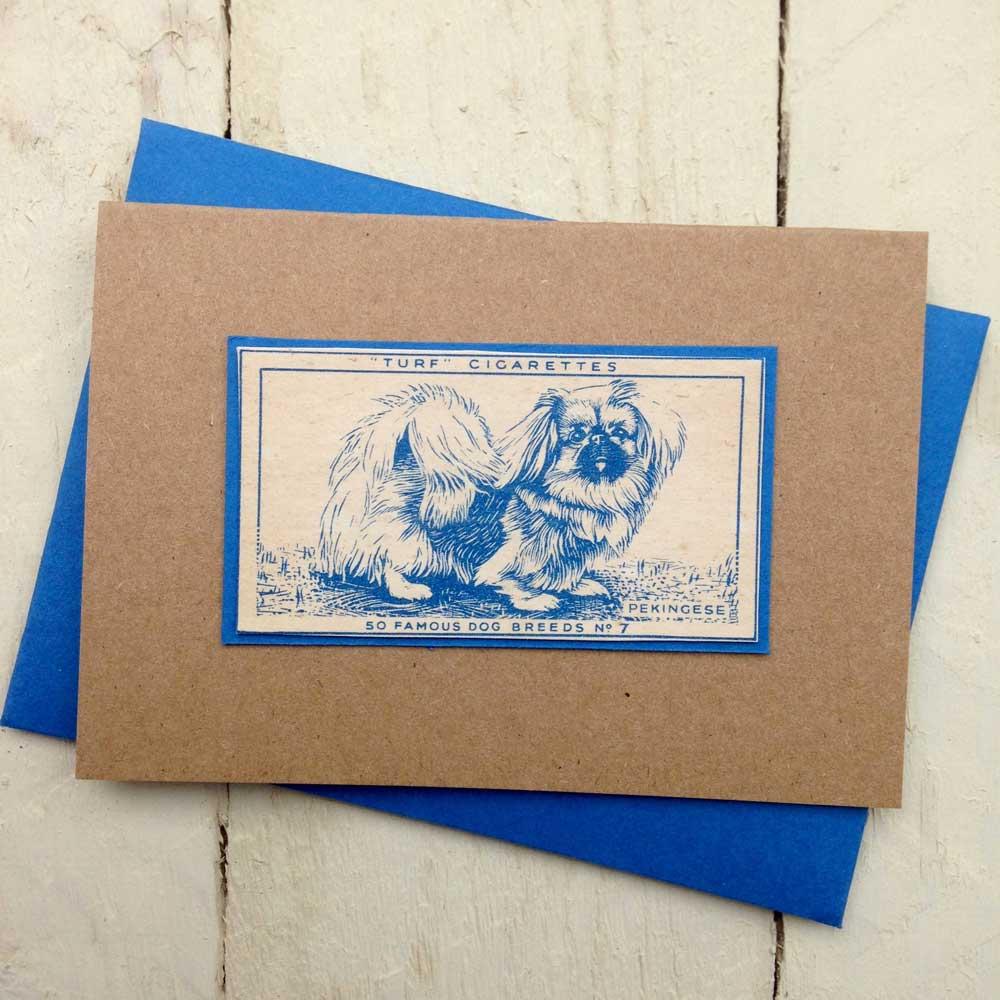 Pekingese Vintage Greeting Card - The Enlightened Hound