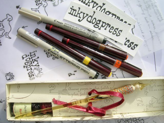 Pen & Ink drawing materials | The Enlightened Hound