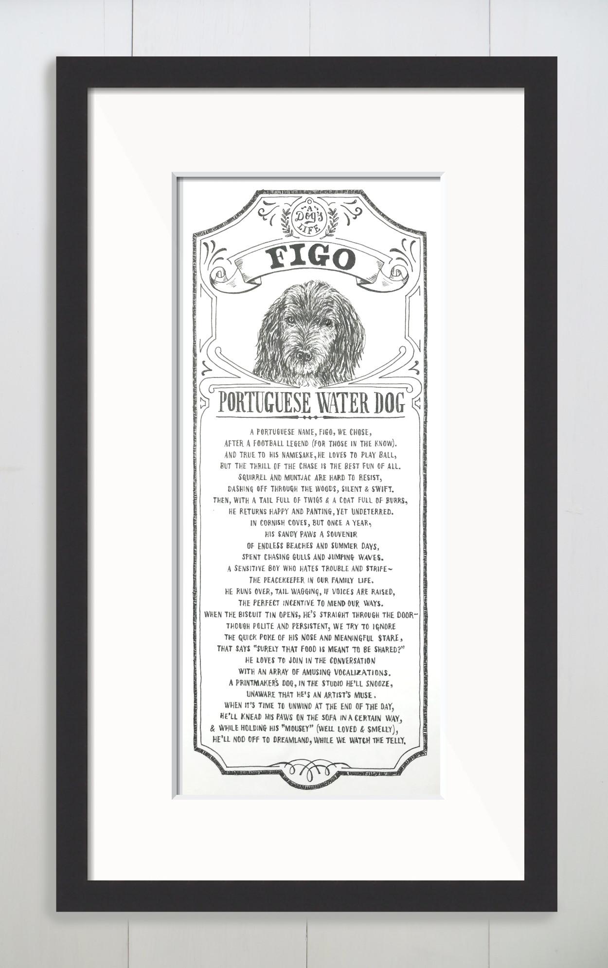 Bespoke Dog Portrait Illustrated Poem | The Enlightened Hound